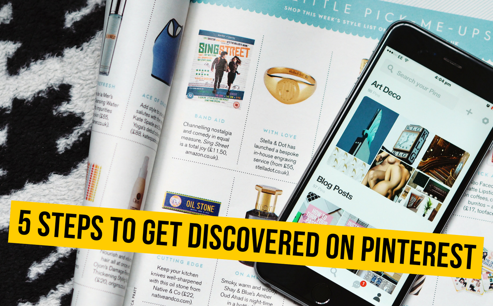 5 steps to get discovered on Pinterest