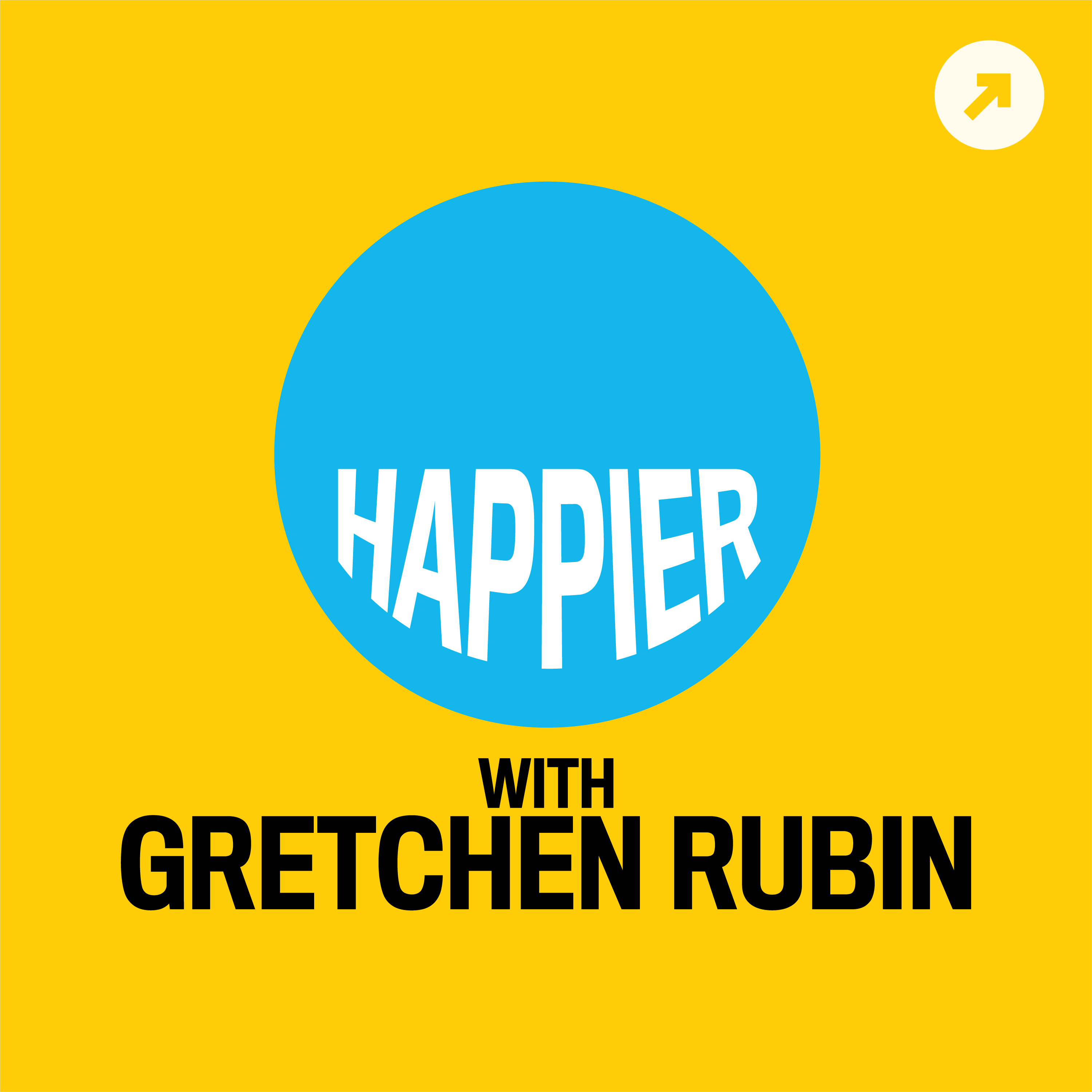 Image of Happier by Gretchen Rubin podcast logo