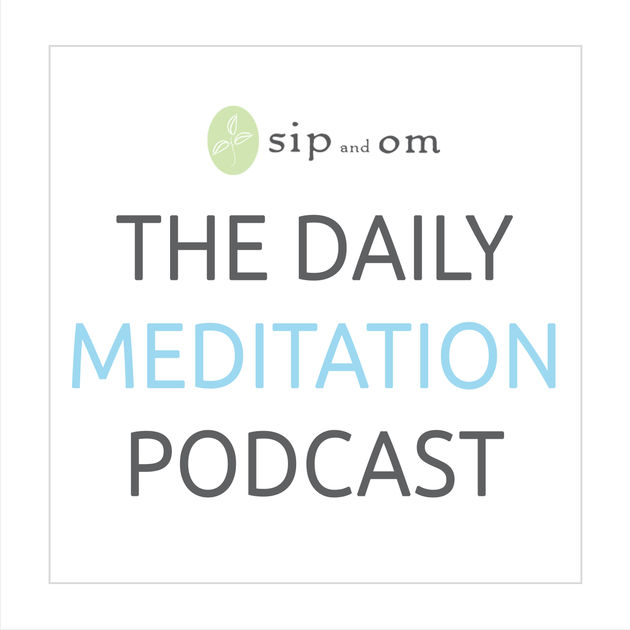 An image of the daily meditation podcast logo