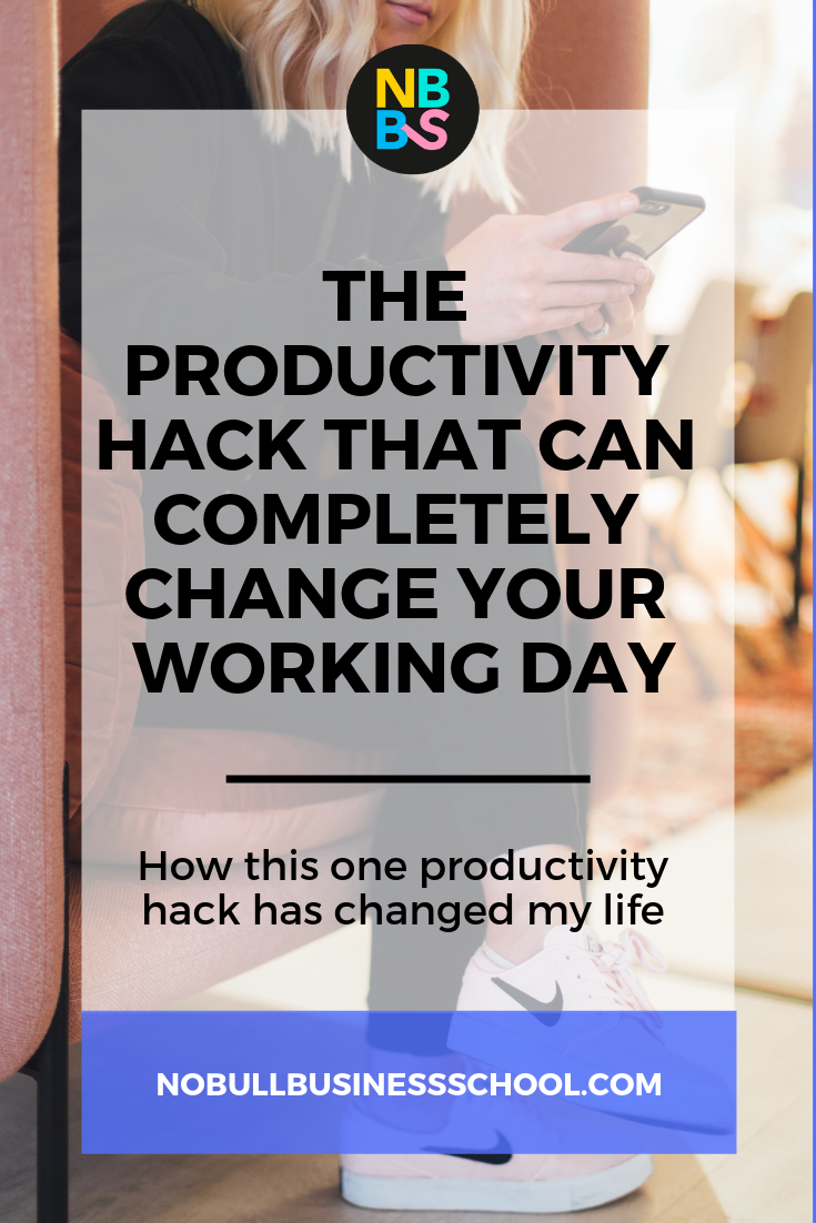 Pinterest graphic for the productivity hack that can change your life blog post